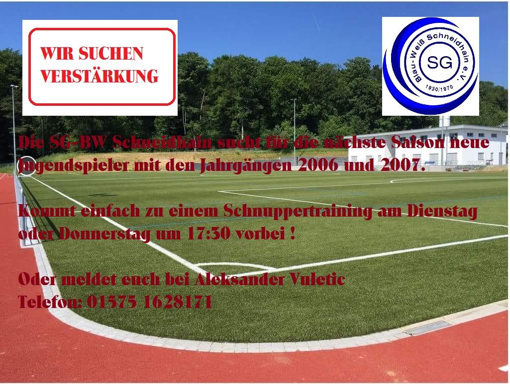 D Jugend Spieler Gesucht Sportverein Sg Bw Schneidhain